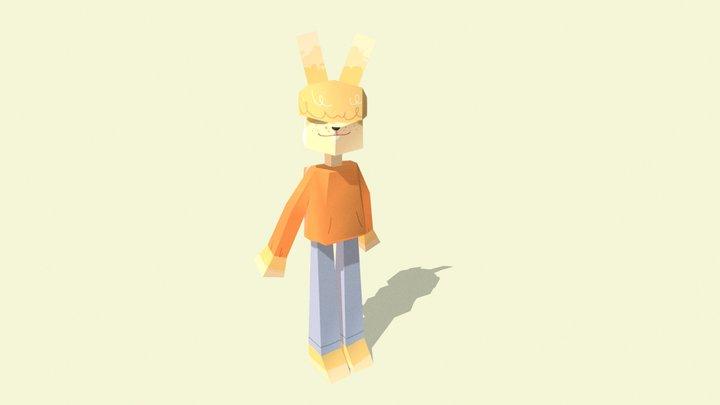 Almond - Lowpoly Rabbit 3D Model