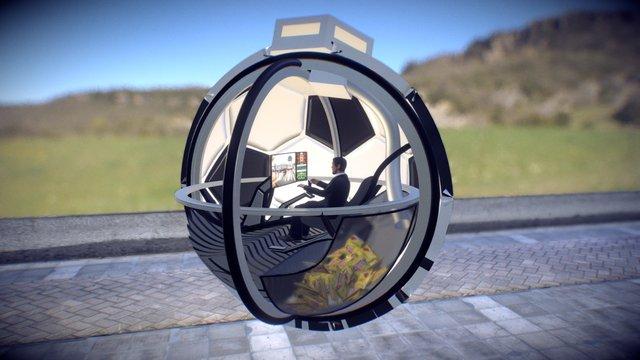 Concept art of a moving car 3D Model