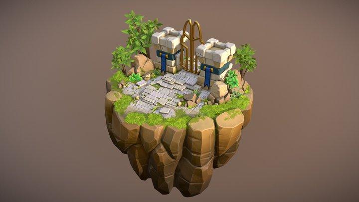 Castle Kingdom 3D Model