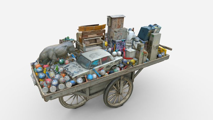Kadıköy on a Push Cart 3D Model