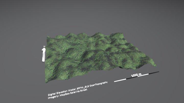 Cockpit Karst, Jamaica 3D Model