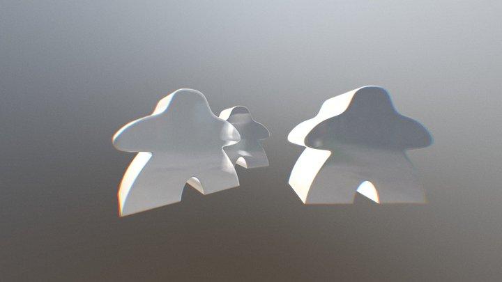 """""""Granddaddy"""" of meeples: Carcassonne meeple 3D Model"""