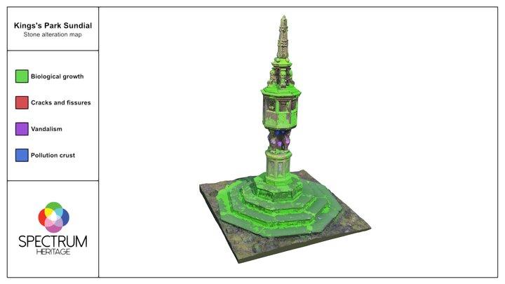 King's Park Sundial conservation survey 3D Model