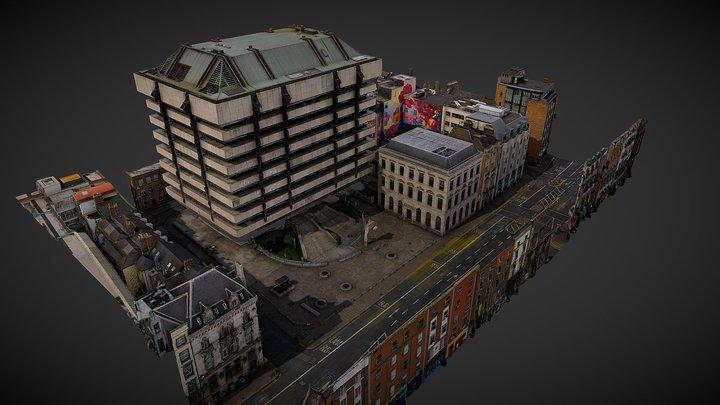 Dame Street - Dublin 3D Model