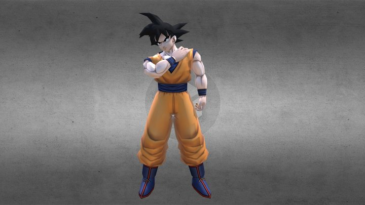 DRAGON BALL CHARACTER SON GOKU Rigged 3D Model