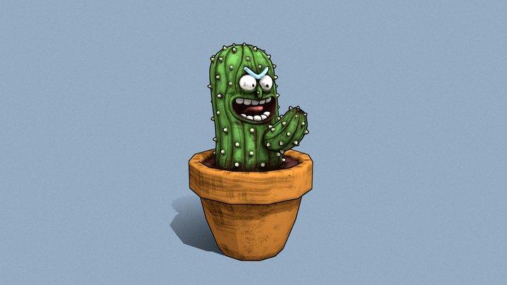 Cactus Pickle Rick 3D Model