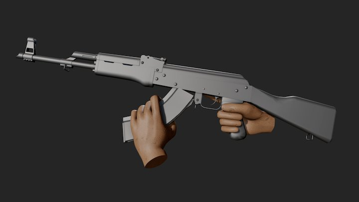 AK47 Reload Animation - Free Download 3D Model