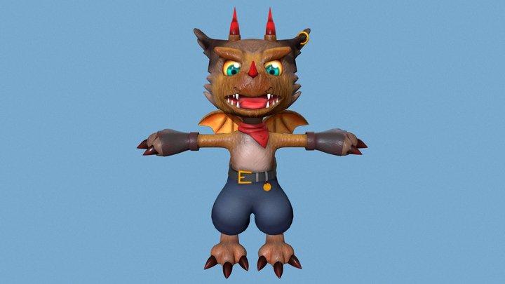 My Monster Dragon-Wolf 3D Model