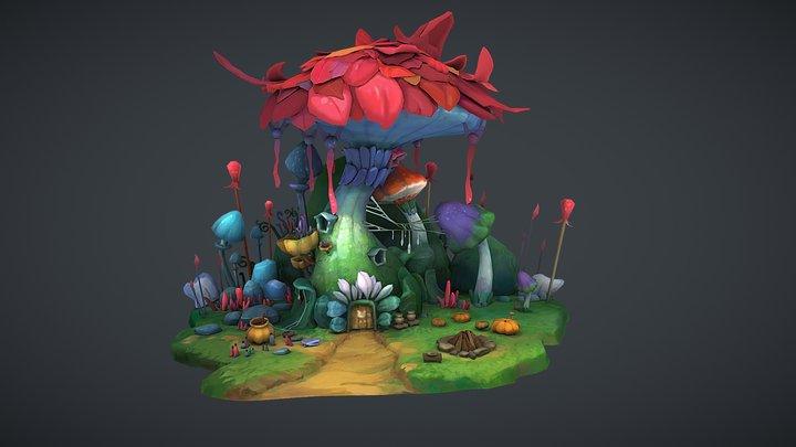Fabulous Mushroom House✔ 3D Model