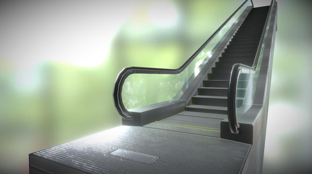 Escalator 3D Model