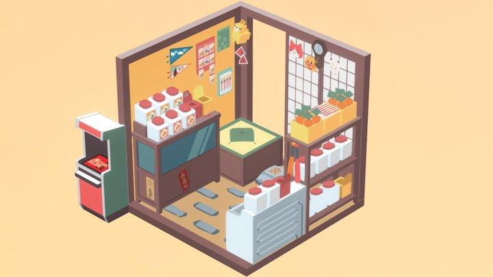 "japanese penny candy store ""dagashiya"" 3D Model"
