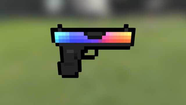 Block Strike - Glock 3D Model