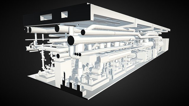 Skyscraper Mechanical Room 3D Model