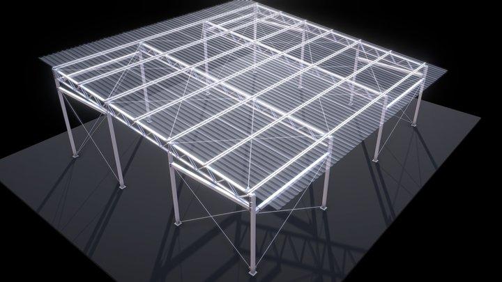 60 - COBERTURA EM ESTRUTURA METÁLICA 3D Model