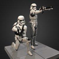 First Order Trooper - Star Wars:Galaxy of Heroes 3D Model