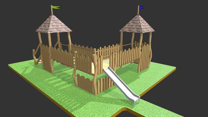 castle play tower unit 3D Model