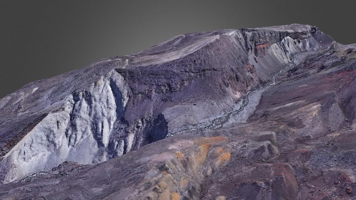 Mount St Helen north side 3D Model