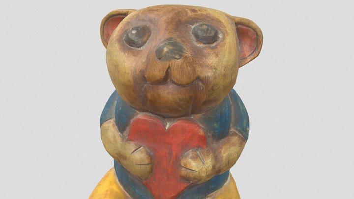 carved wooden bear 3D Model