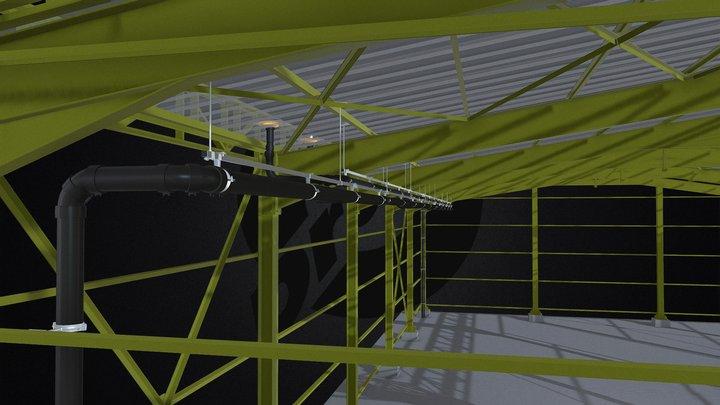 Drain® Siphonic Drainage Line 3D Model