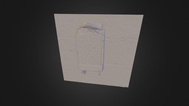 Modelo 3D de inscripción romana de Castrofeito 3D Model