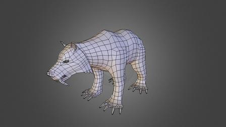 SaberWolfBear 3D Model