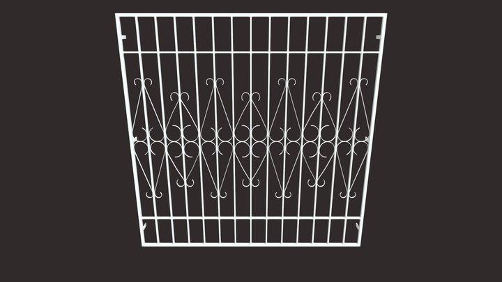 Iron Bar Window-13 3D Model