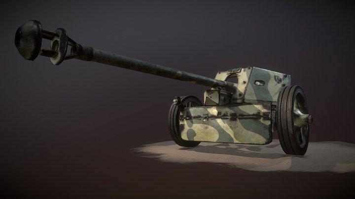 Pak40AT Gun 3D Model