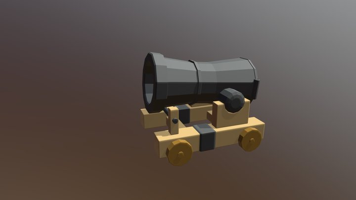 Cannon - low-poly 3D Model