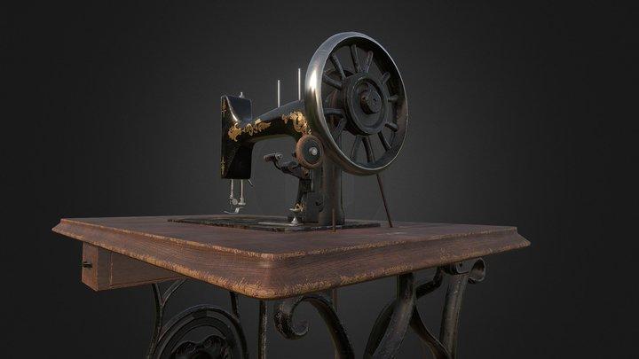 Vintage Sewing Machine PBR 3D Model