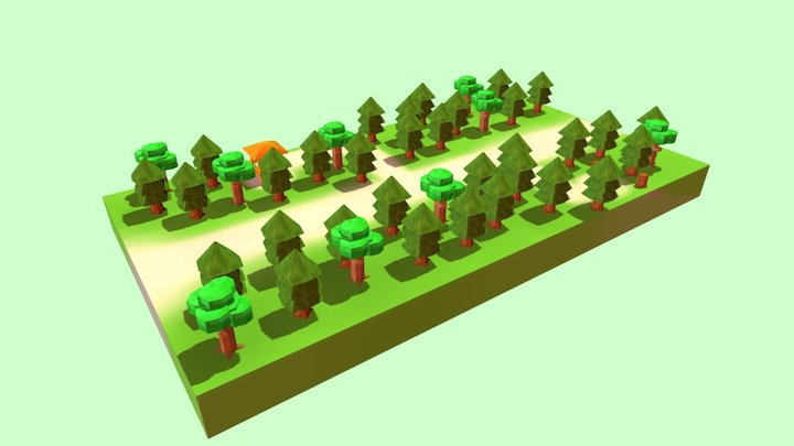 Forest Low Poly 3D Model