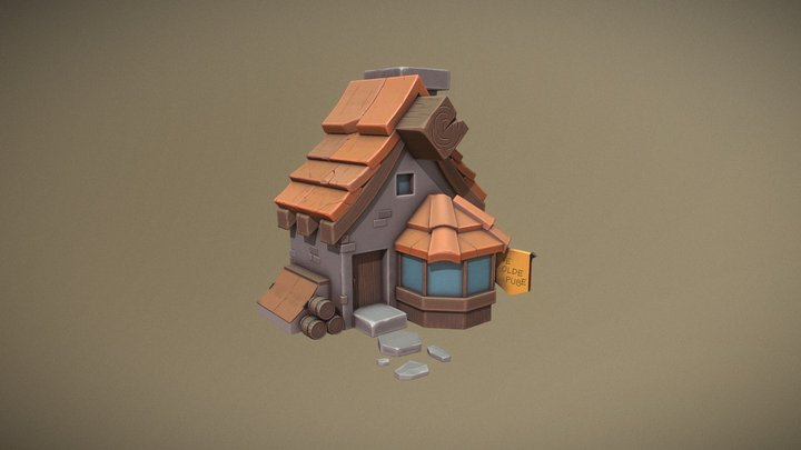 Cartoon Tavern 3D Model
