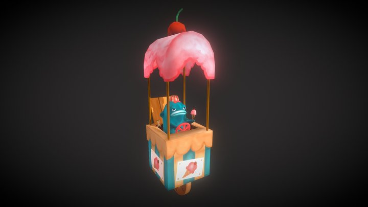 Amusement Park Icecream Man 3D Model