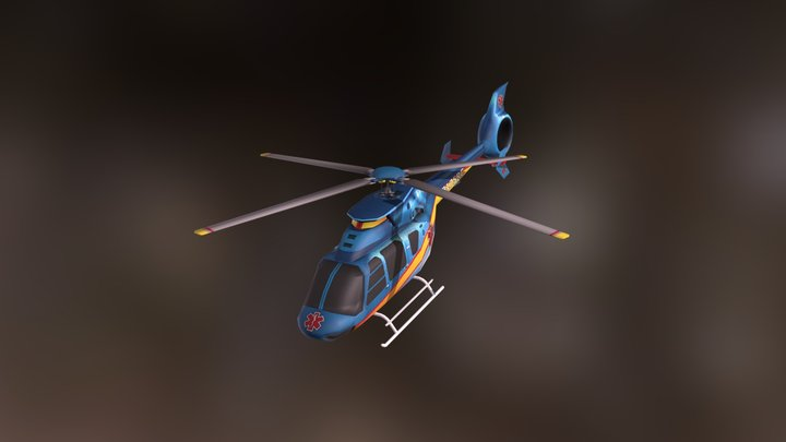 Toy Helicopter1 3D Model