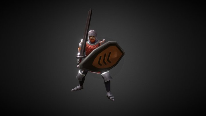 Low Poly Knight 3D Model