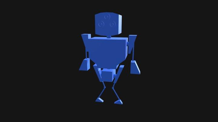 Short Robot 3D Model