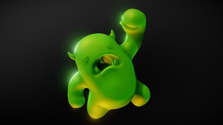 Decimated Melvin 3D Model