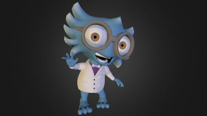 Harold the Mad Scientist  3D Model