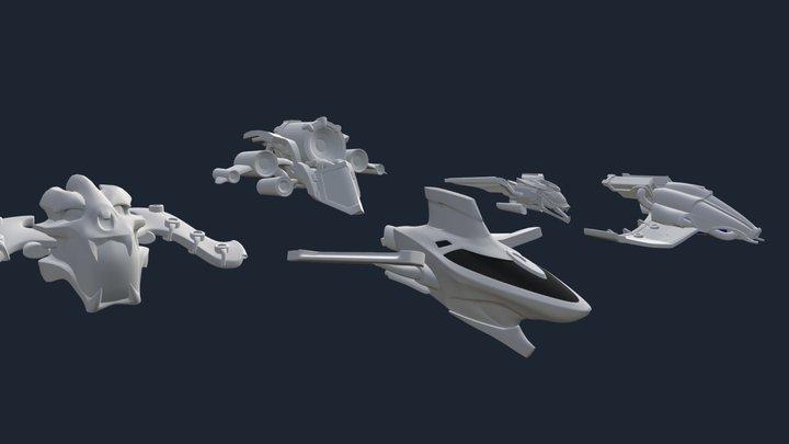 Starlight Brigade | Brigadier Ships 3D Model