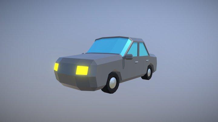 Simple Low Poly Car 3D Model