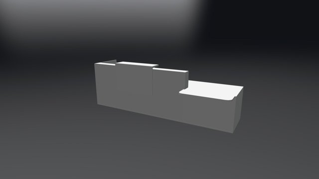 TRA40L Reception Desk 3D Model