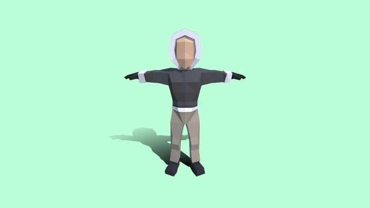 Low-Poly Hiker 3D Model