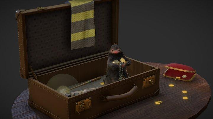 Newt Scamander's Suitcase 3D Model