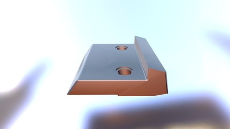 Grate plate with lip seal 3D Model