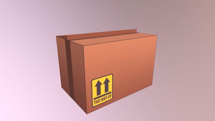 Low Poly Box 3D Model