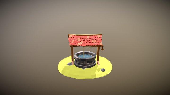 Lowpoly Well 3D Model