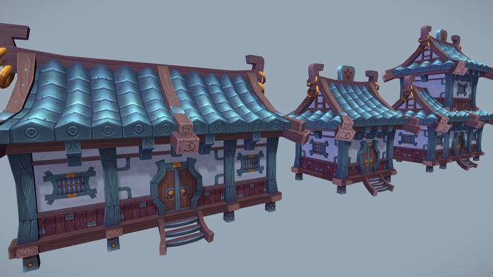 Fantasy Village Set 3D Model