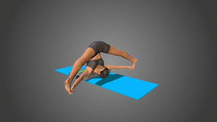 Yoga Pose Supta Konasana 3D Model