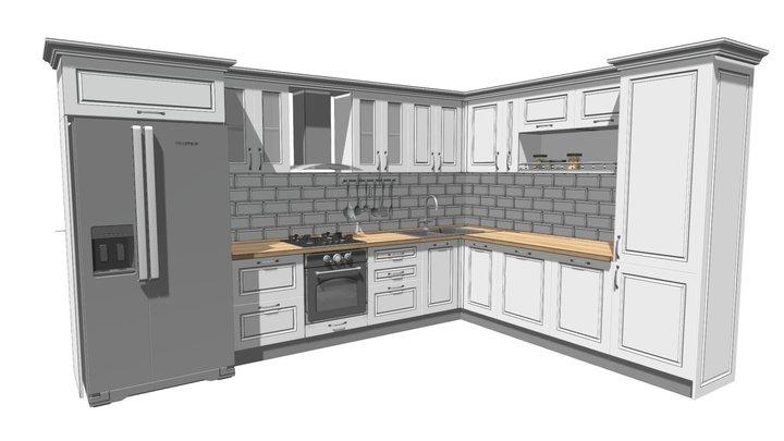 White kitchen 3D Model