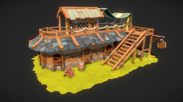 Le Tonneau Tavern 3D Model