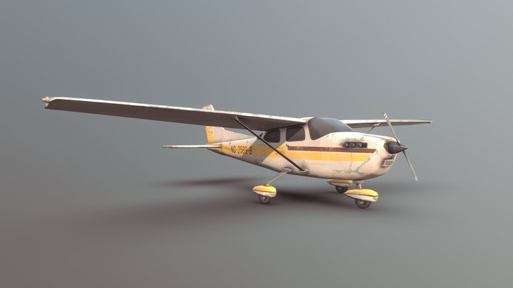 Light Airplane 3D Model